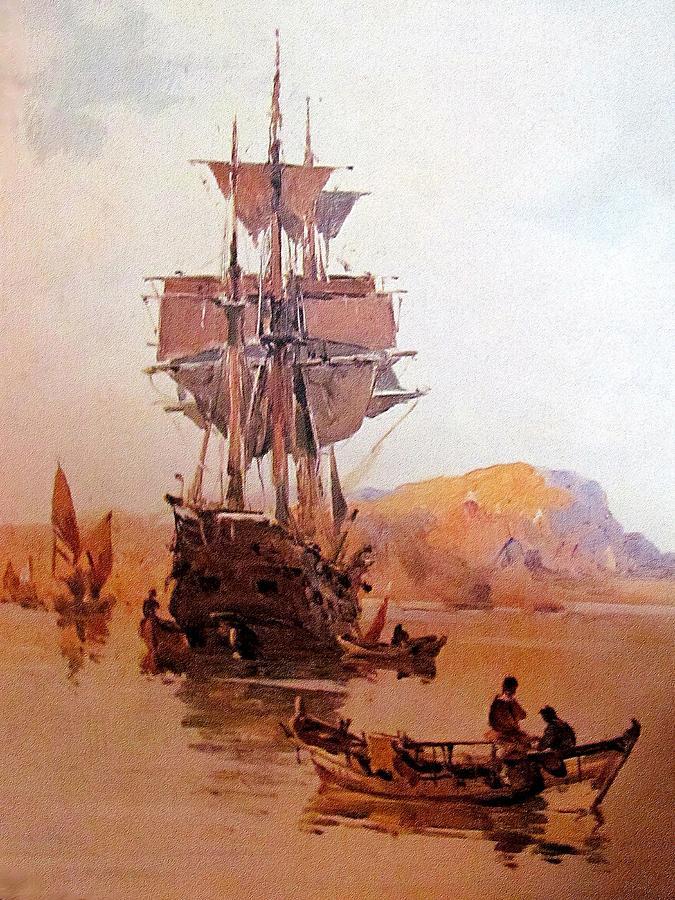 Ship Painting - Rs21 by Roberto Simeroni
