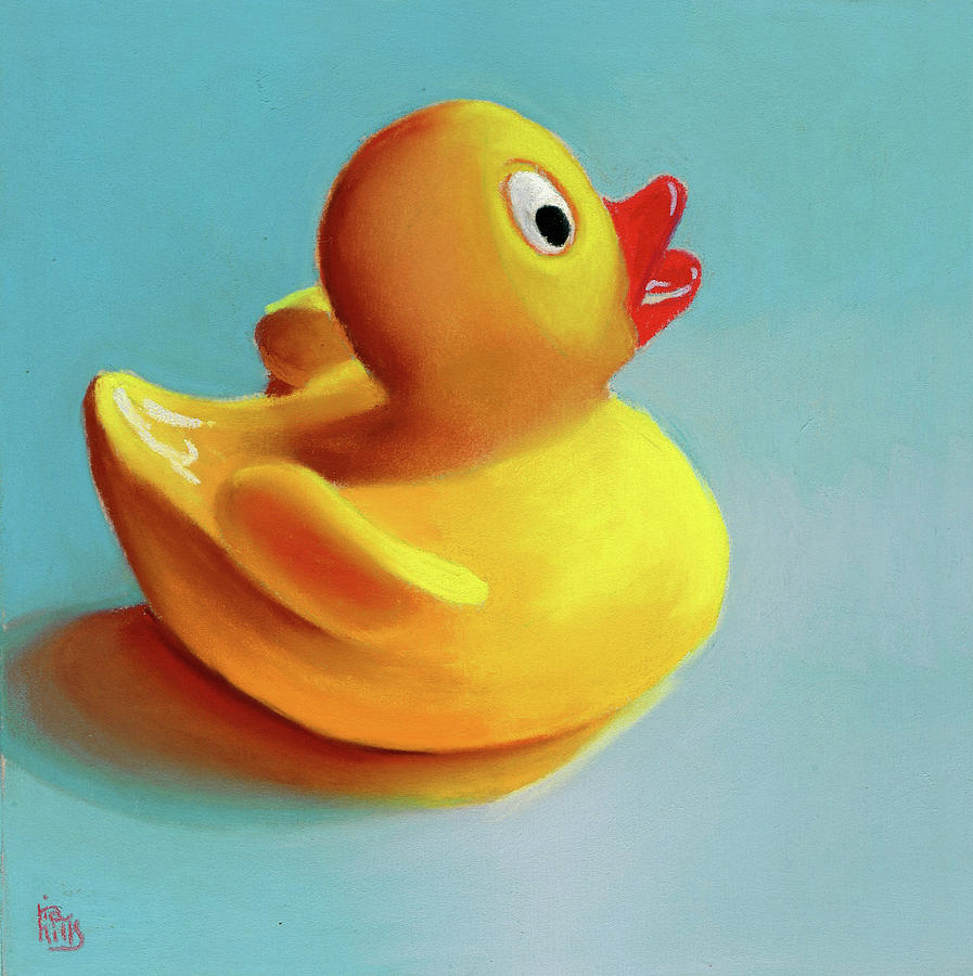 Rubber Ducky Painting by Ria Hills