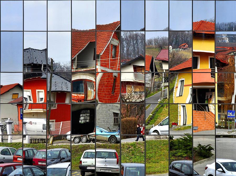 Rubik's Photograph - Rubiks Town by Samanta