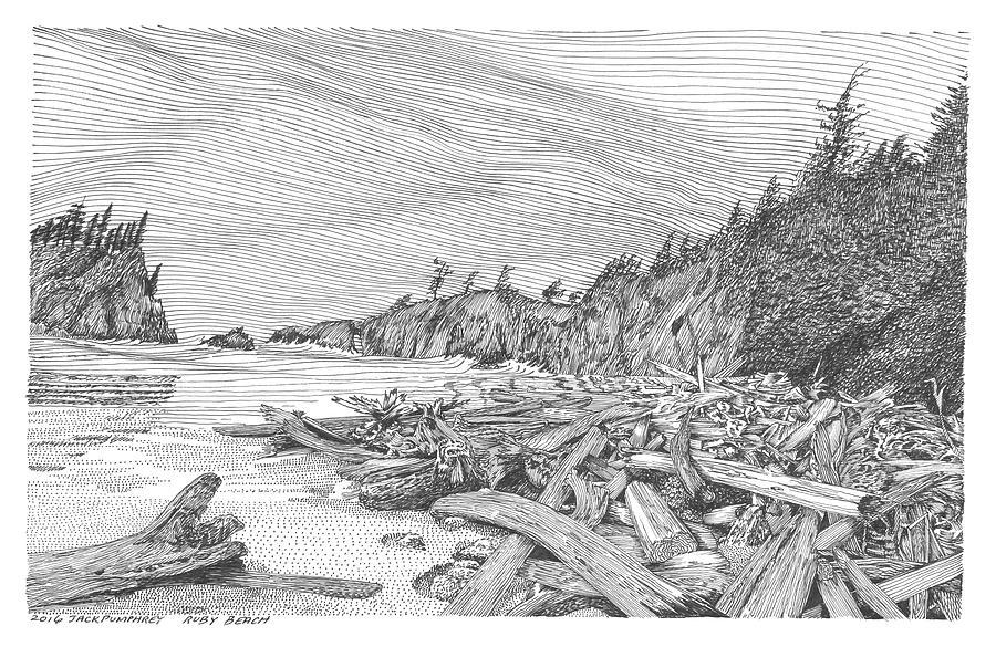 Ruby Beach  Our Beach Drawing