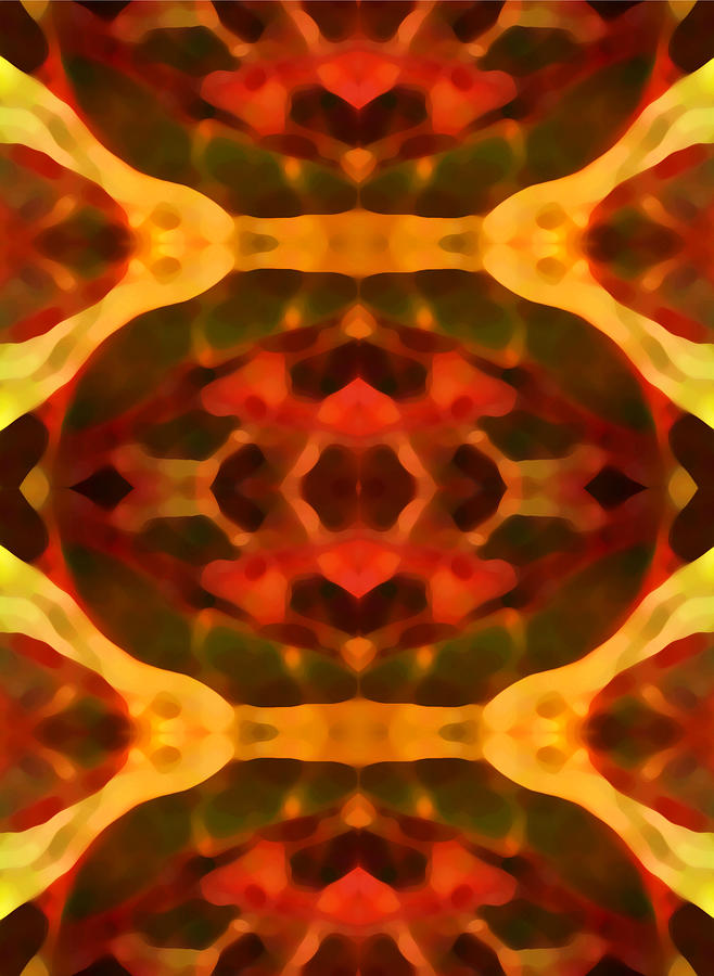 Abstract Painting Digital Art - Ruby Crystal Pattern by Amy Vangsgard