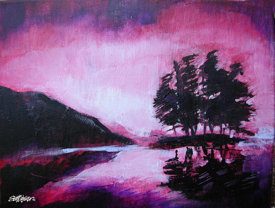 Acrylic On Canvas Painting - Ruby Dawn by Seth Weaver