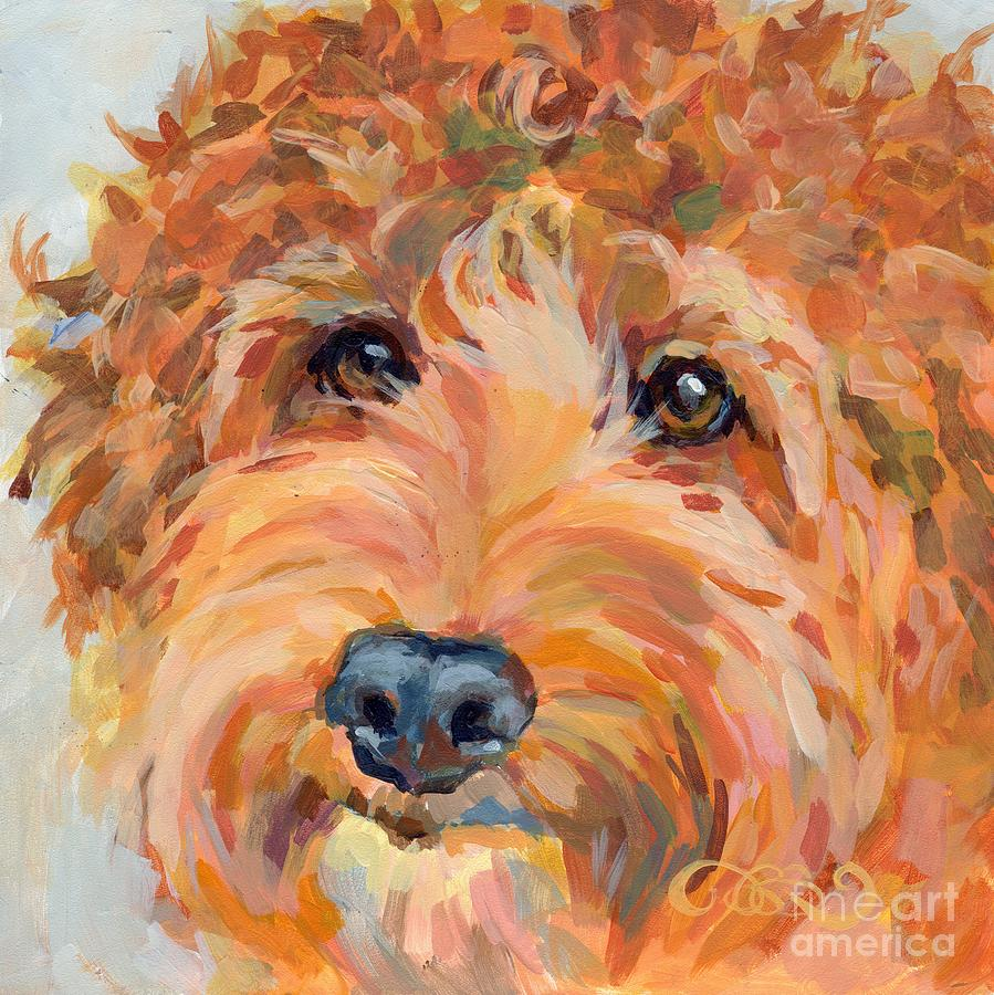 Labradoodle Painting - Ruby by Kimberly Santini