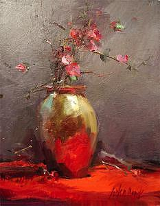 Stillife Painting - Ruby Tuesday by John Cook