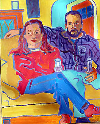 Portraits Painting - Rudy And Molly by Debra Bretton Robinson