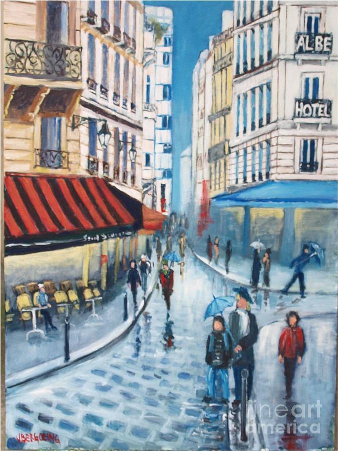 Paris Painting - Rue De La Huchette, Paris 5e by Jean Pierre Bergoeing