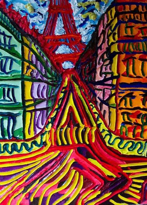Eiffel Tower Painting - Rue De Paris by Ira Stark