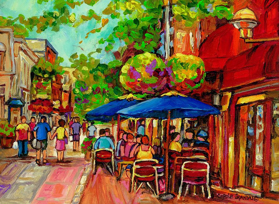 Montreal Painting - Rue Prince Arthur Montreal by Carole Spandau