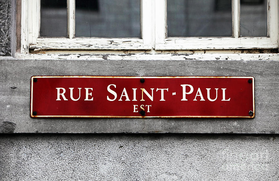 Saint Paul Street Photograph - Rue Saint-paul by John Rizzuto