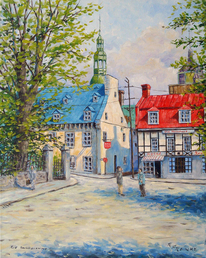 Streets Painting - Rue Ste Anne 1965 by Richard T Pranke