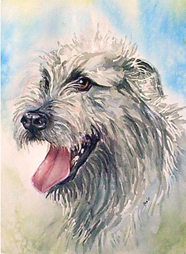 Canine Painting - Ruffy by Gina Hall