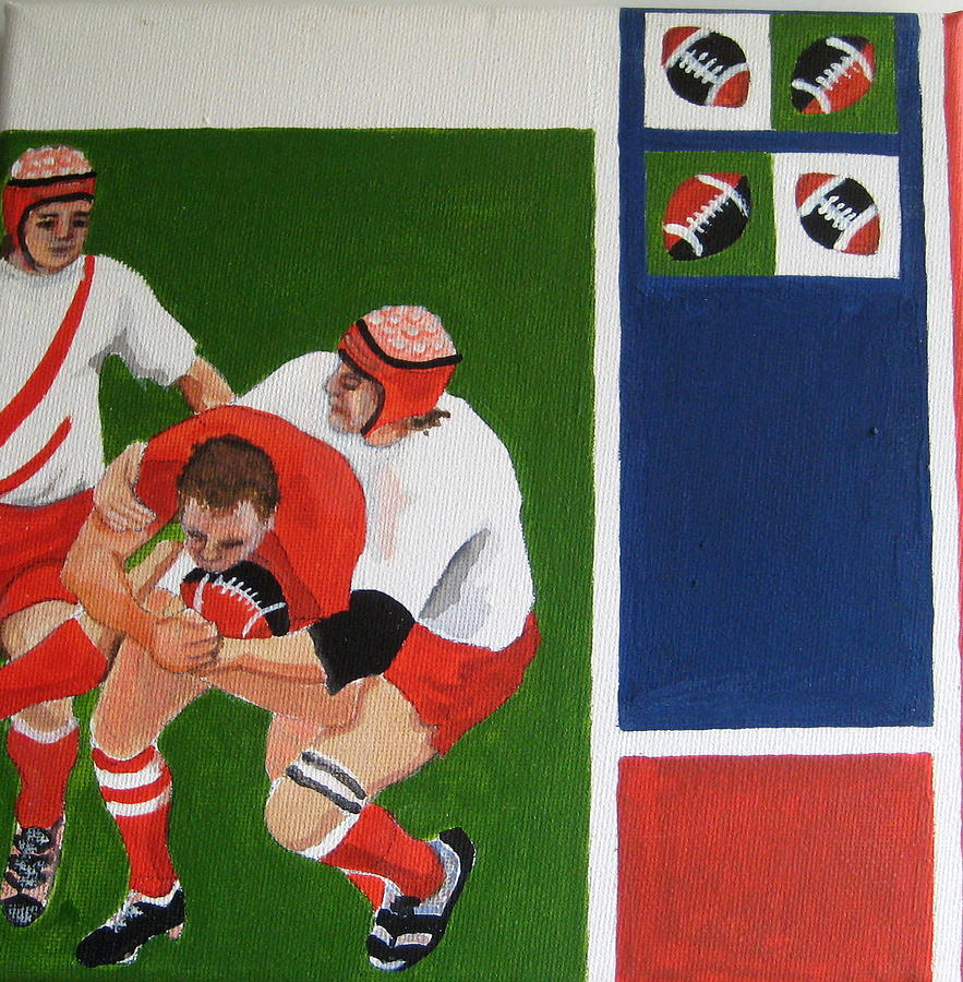 Rugby Painting - Rugby 3 by Pat Barker