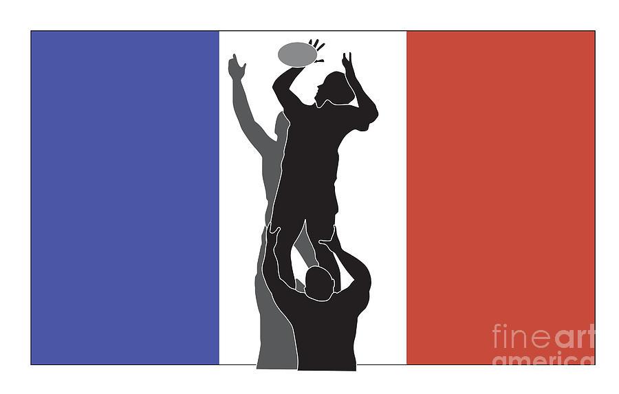 Illustration Digital Art - Rugby France by Aloysius Patrimonio