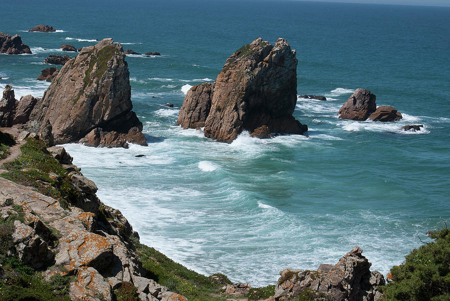 Blue Water Photograph - Rugged Coastline - Portugal by Connie Sue White