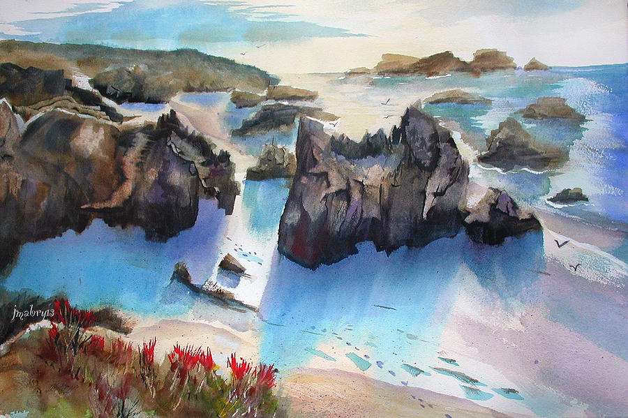 Marin Lovers Coastline by John Mabry