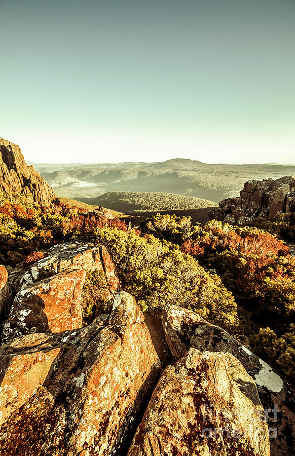 Rugged Photograph - Rugged Mountaintops To Regional Valleys by Jorgo Photography - Wall Art Gallery