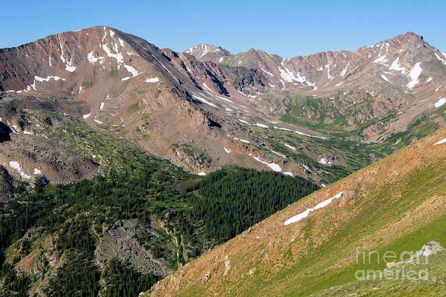 Rugged Scenery On Mount Massive Colorado Photograph