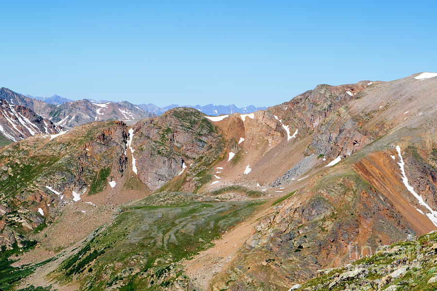 Rugged Scenery On The The Mount Massive Trail Photograph