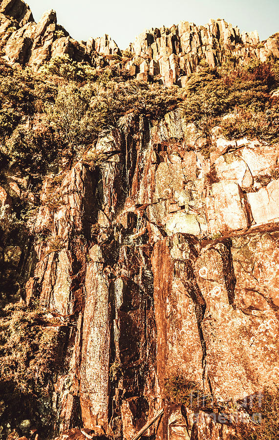 Nature Photograph - Rugged Vertical Cliff Face by Jorgo Photography - Wall Art Gallery