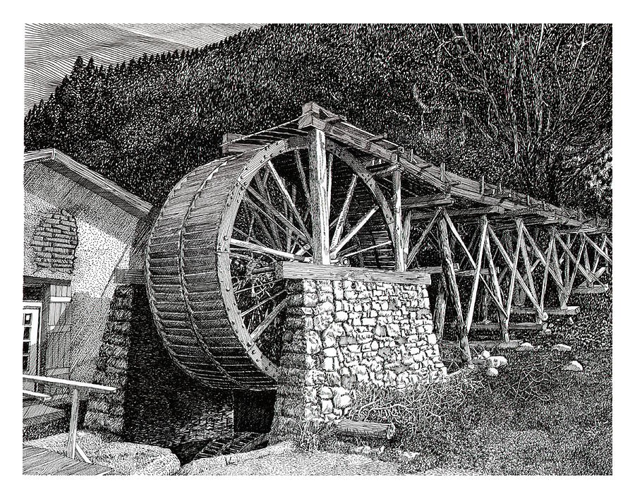 Ruidoso Waterwheel by Jack Pumphrey