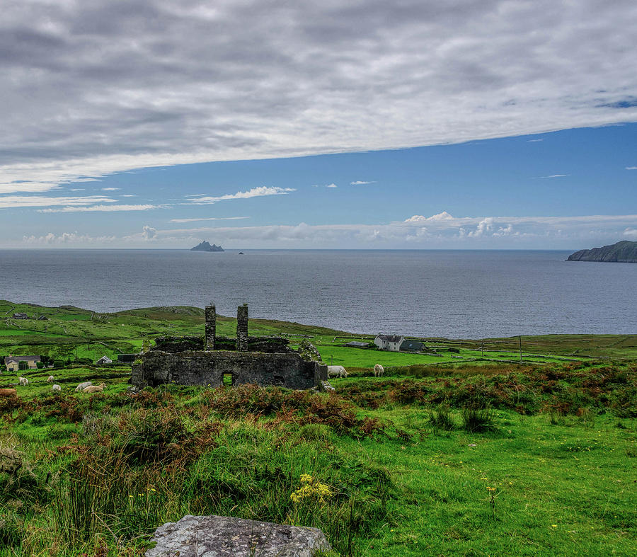 Ruins and Skellig Michael by Elvis Vaughn