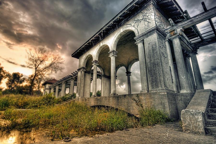Landscape Photograph - Ruins At Dusk by Ryan Heffron