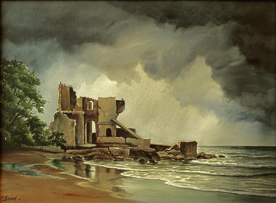 Landscape Painting - Ruins Near Kenosha by Paul Krapf