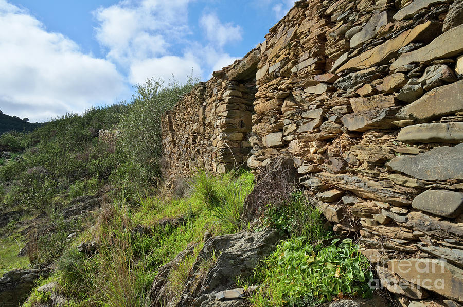 Ruins Photograph - Ruins Of A Schist Cottage In Alentejo by Angelo DeVal