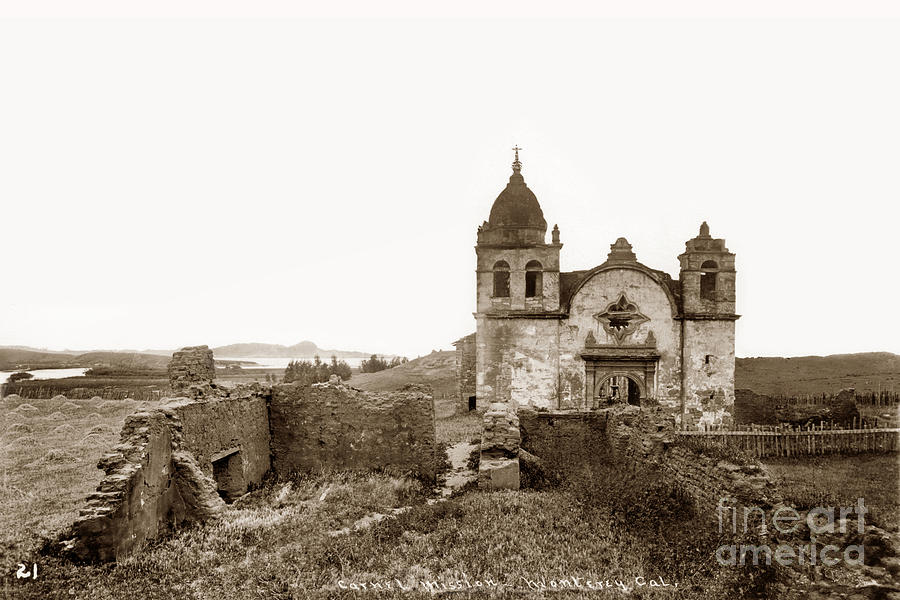 Carmel Mission Photograph - Ruins Of Carmel Mission, Monterey, Cal. Circa 1882 by California Views Mr Pat Hathaway Archives