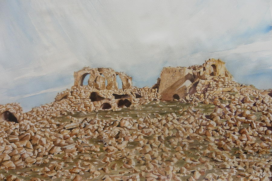 Ruins Of The City Painting