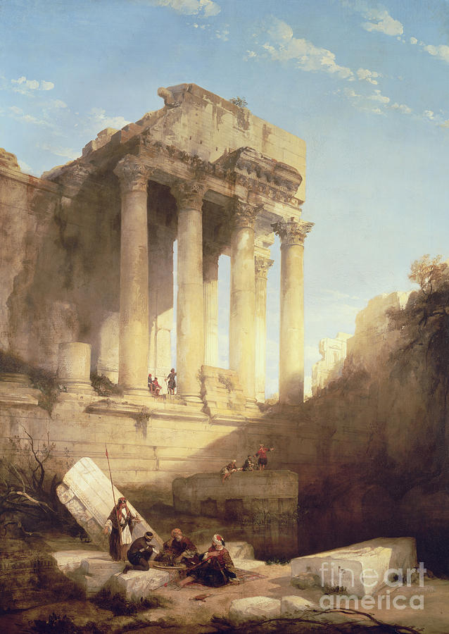 Baalbec - Ruins Of The Temple Of Bacchus Painting - Ruins Of The Temple Of Bacchus by David Roberts