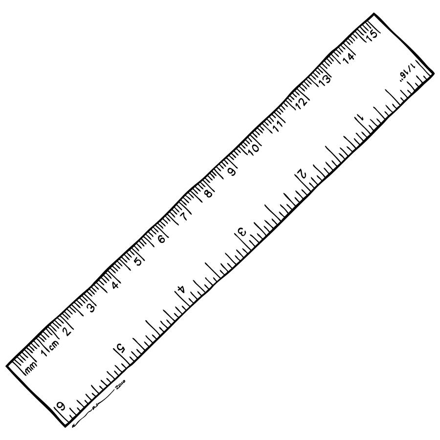 Ruler Drawing By Karl Addison