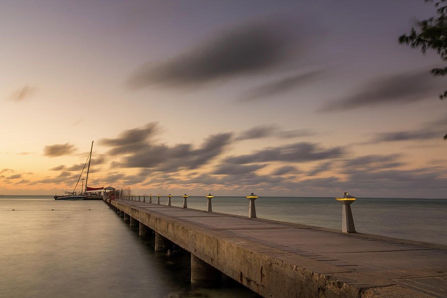 Rum Point Grand Cayman at Dusk by Adam Romanowicz