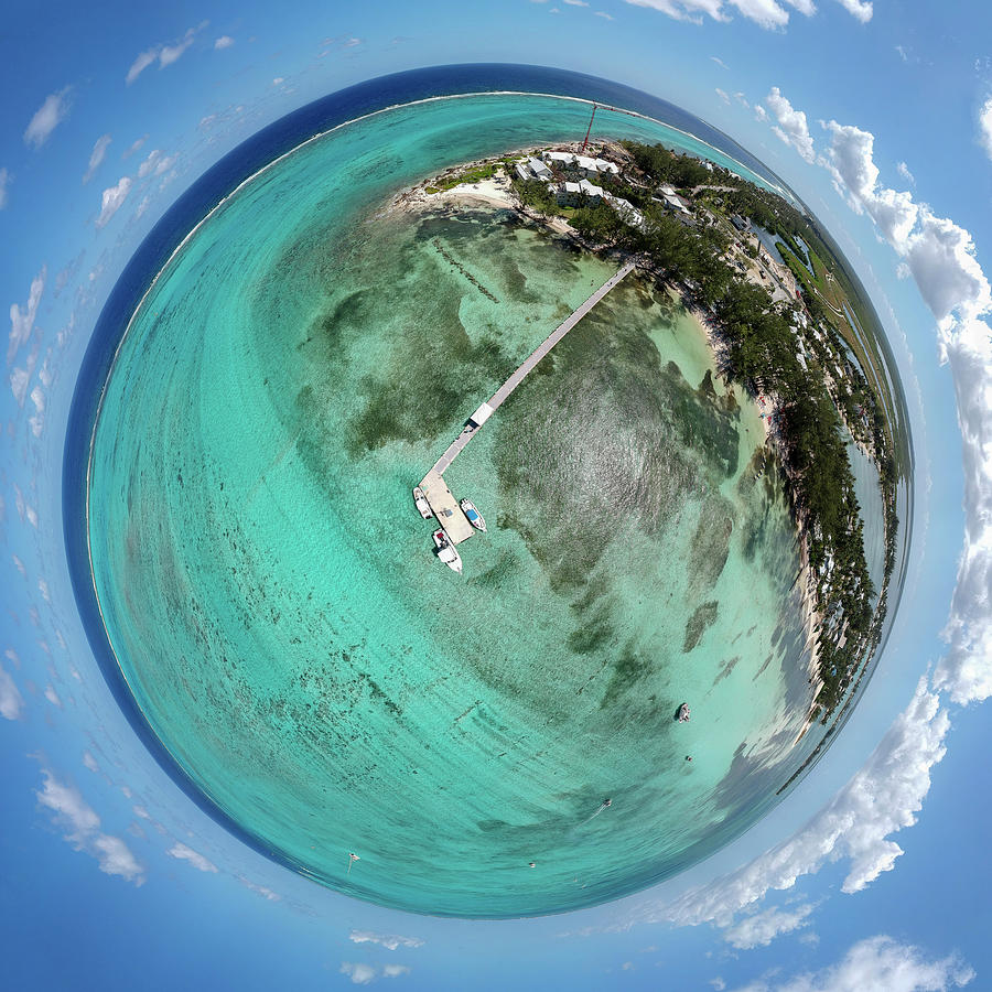 3scape Photograph - Rum Point Little Planet by Adam Romanowicz