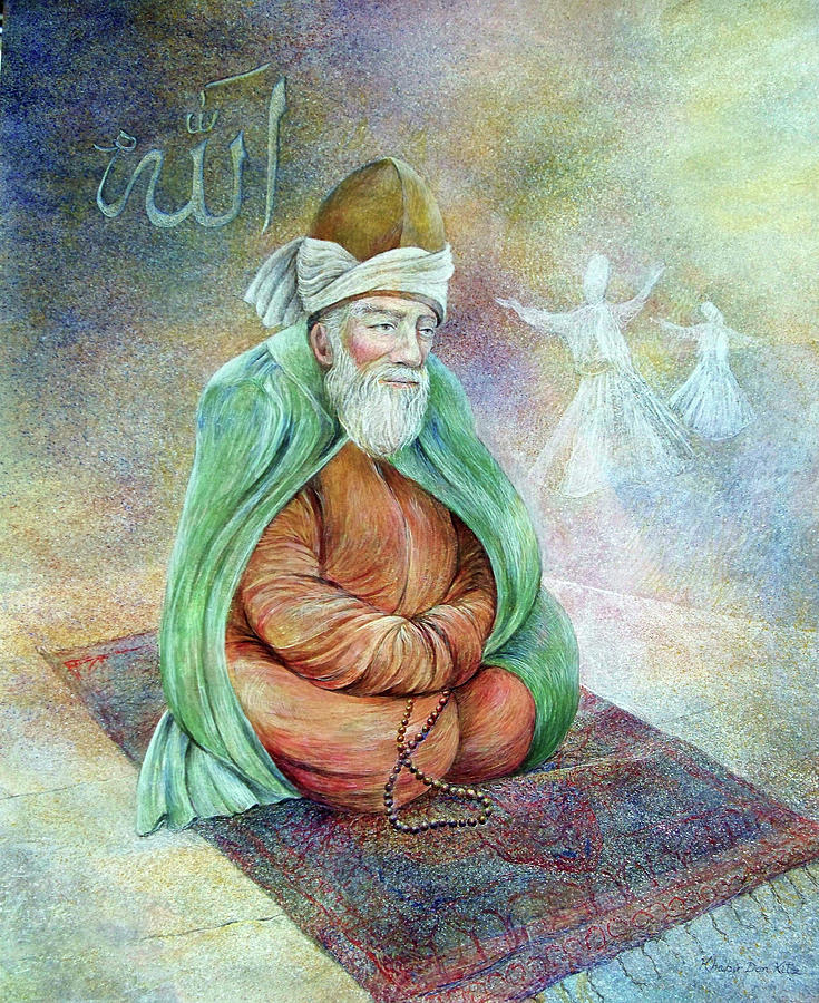 Rumi Painting by Don Kitz