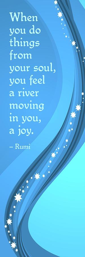 Rumi River Joy Digital Art