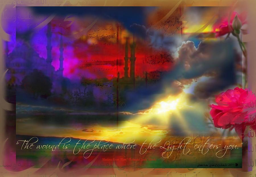 Rumi Painting - Rumi Rumination-1 by Seema Sayyidah