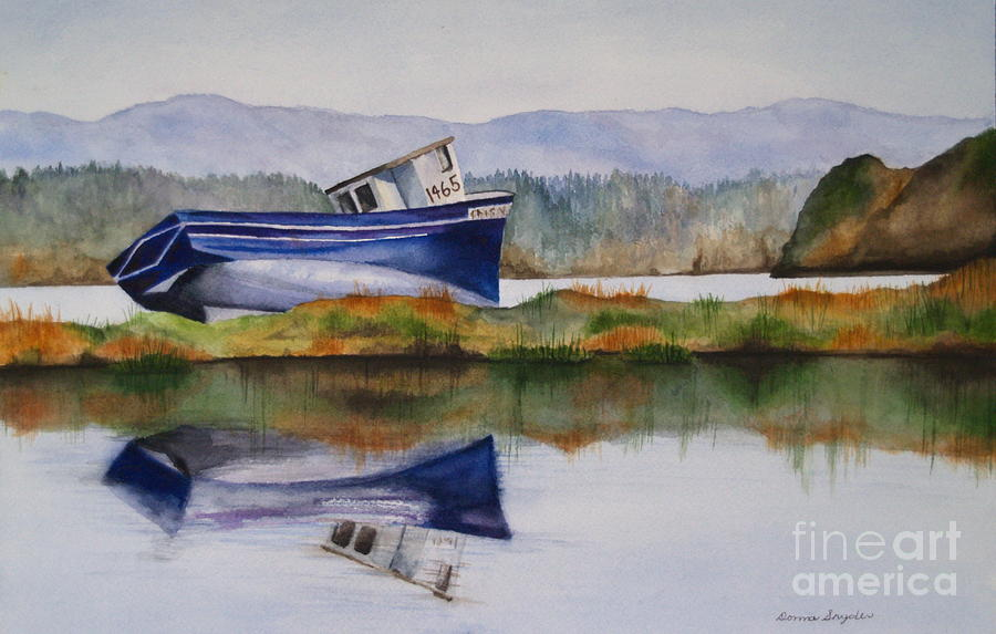 Seascape Painting - Run Aground by Donna Snyder