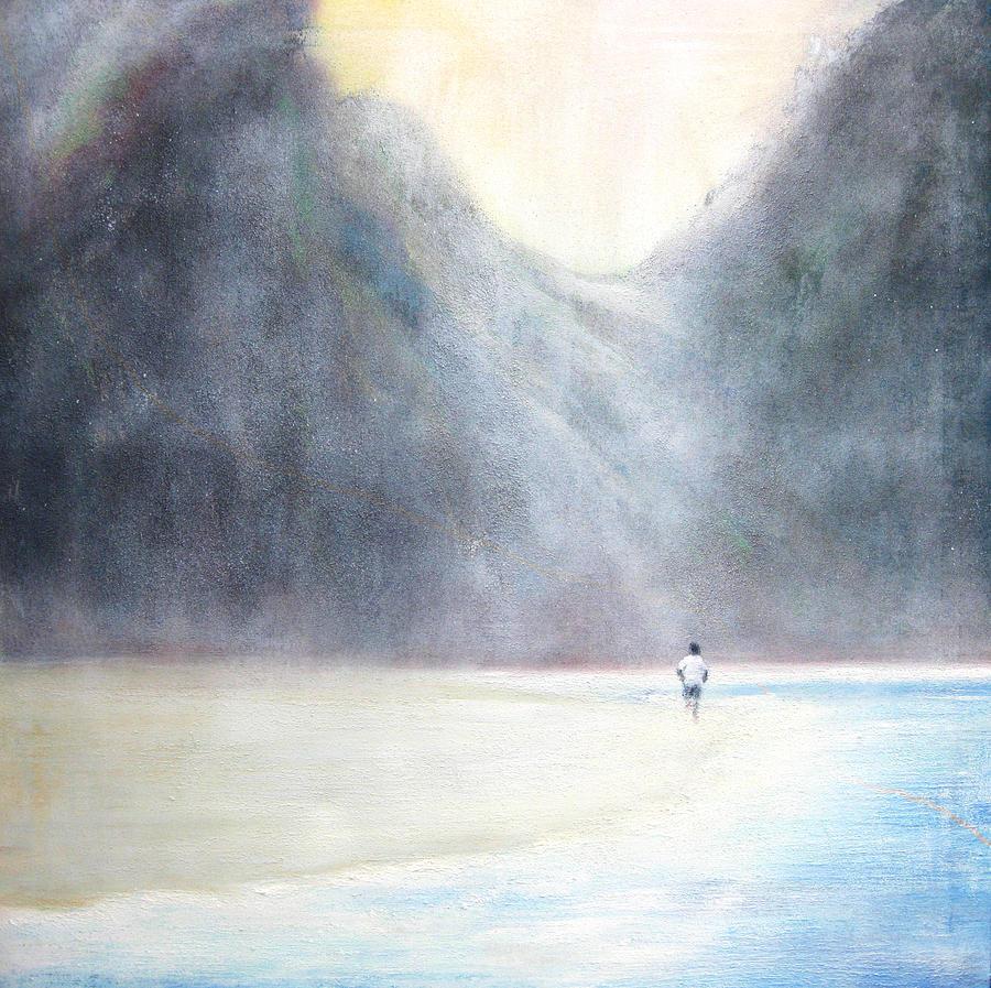 Beach Painting - RUN by Lyn Deutsch