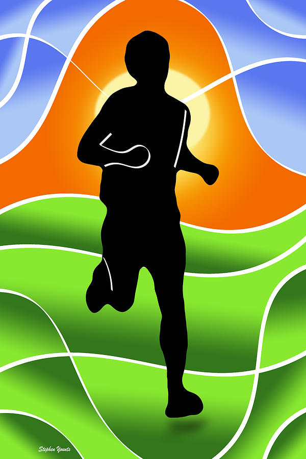 Run Digital Art - Run by Stephen Younts