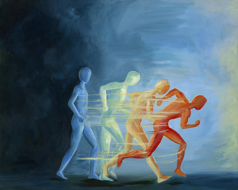 Run To Me Painting by Julie Short