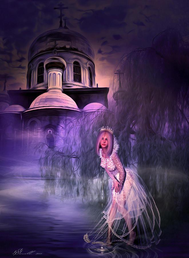 Church Digital Art - Runaway Bride by Svetlana Sewell