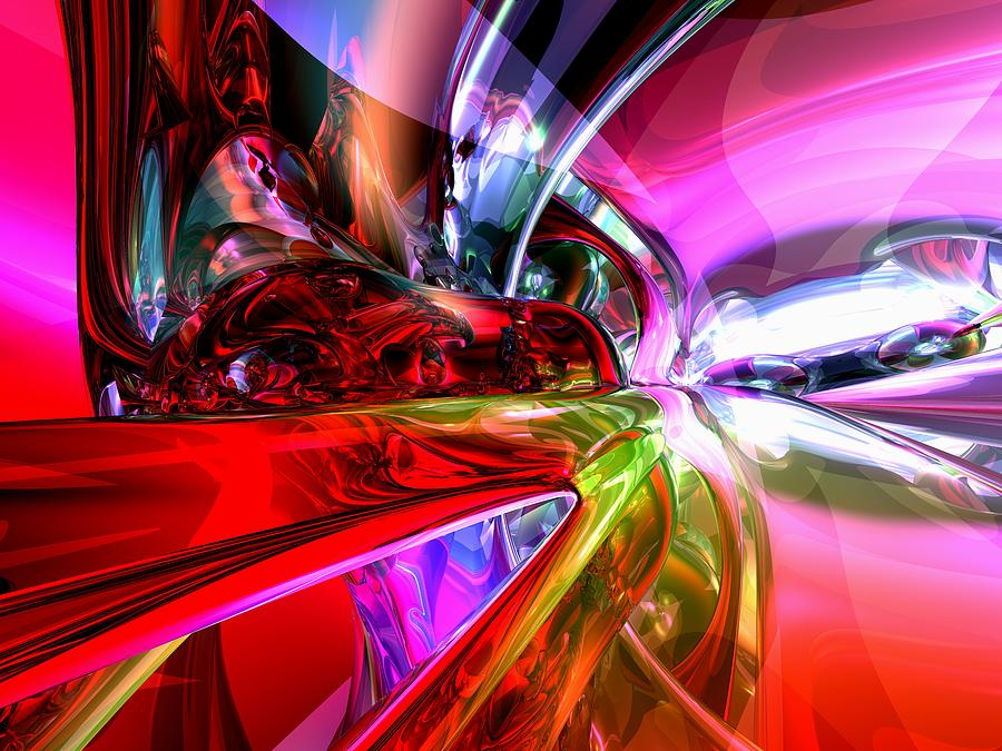 3d Digital Art - Runaway Color Abstract by Alexander Butler