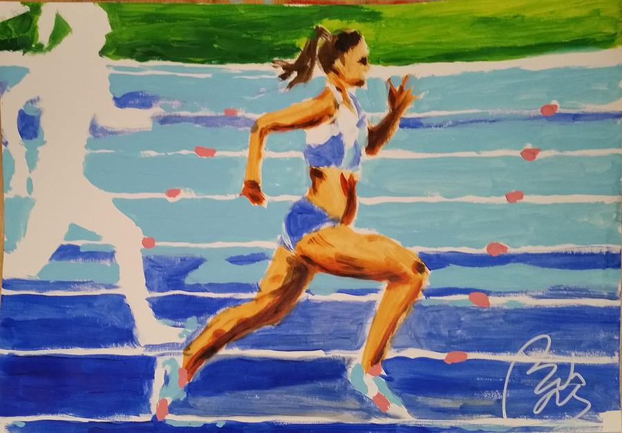 Runner Painting - Runner I by Bachmors Artist