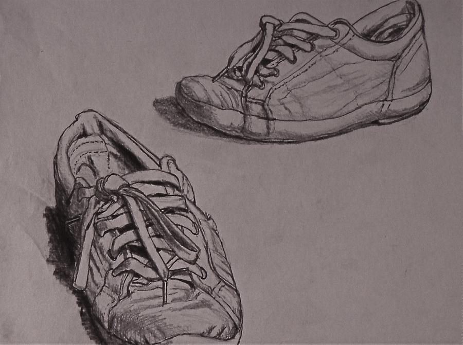 Runners Drawing by Chris  Riley