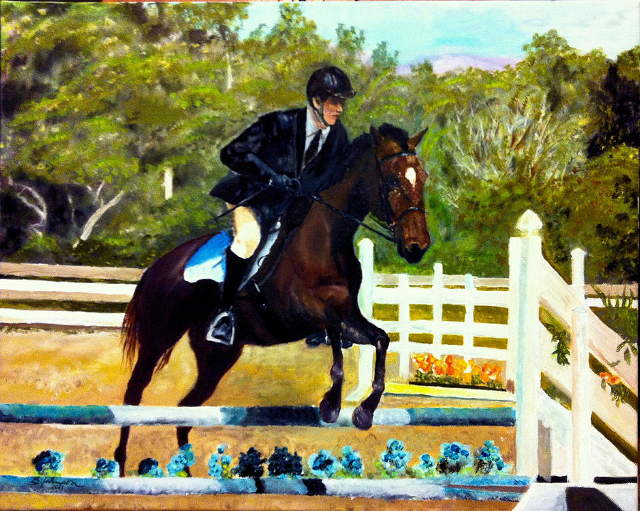 Horse Painting - Running Free by Beverly Johnson