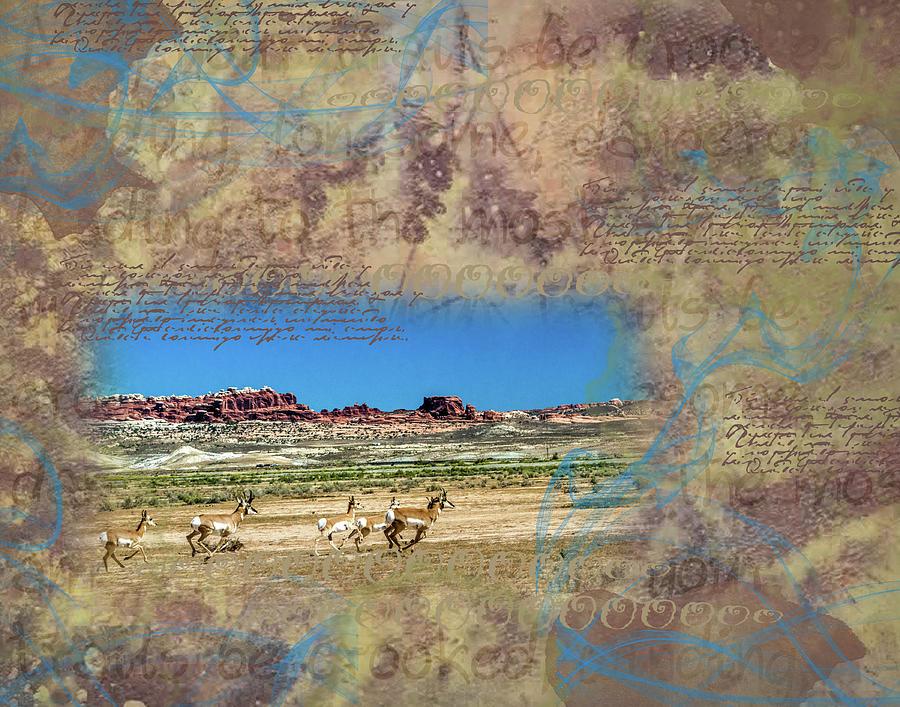 Collage Digital Art - Running Free by Nadine Berg
