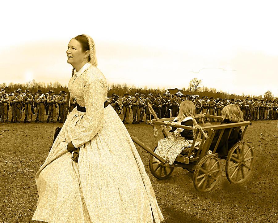 Civil War Photograph - Running From War by Frank Savarese