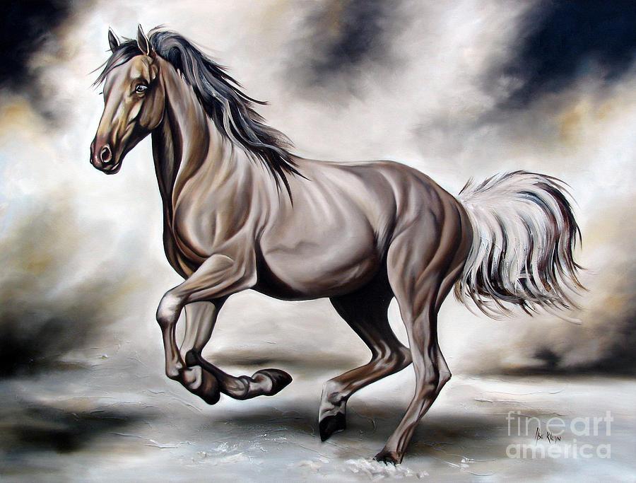 Horse Painting - Running by Ilse Kleyn