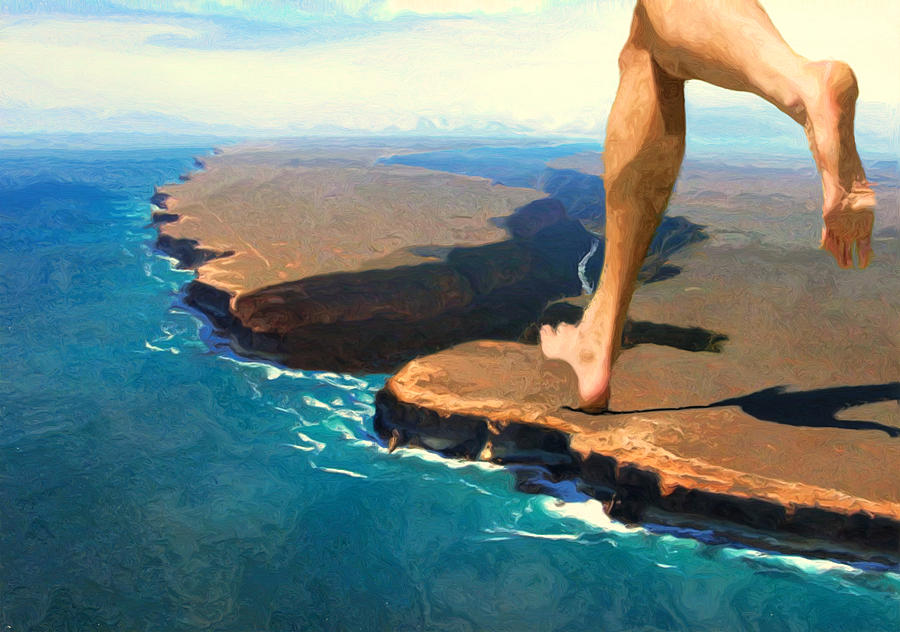 Barefoot Photograph - Running On The Edge by Jack Zulli